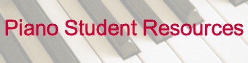 Piano Student Resources